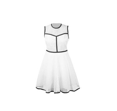 sleeveless midi dress white